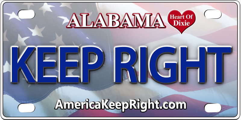 Alabama Keep Right Logo