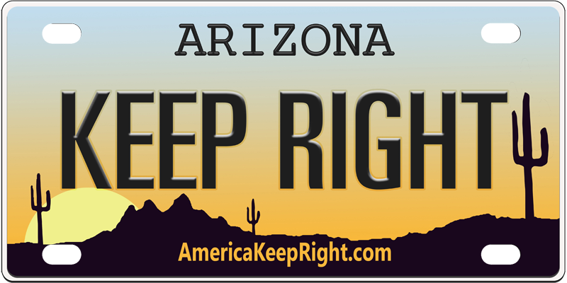 Arizona Keep Right Logo