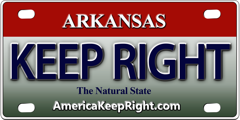 Arkansas Keep Right Logo