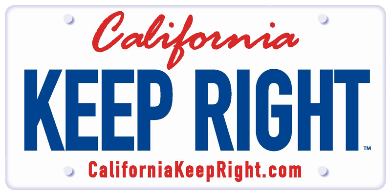 California Keep Right Logo