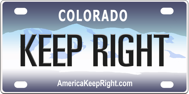 Colorado Keep Right Logo