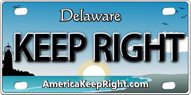 Delaware Keep Right Logo