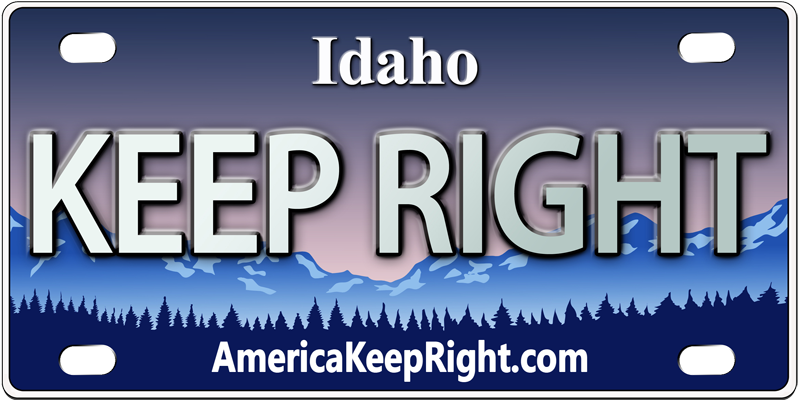 Idaho Keep Right Logo
