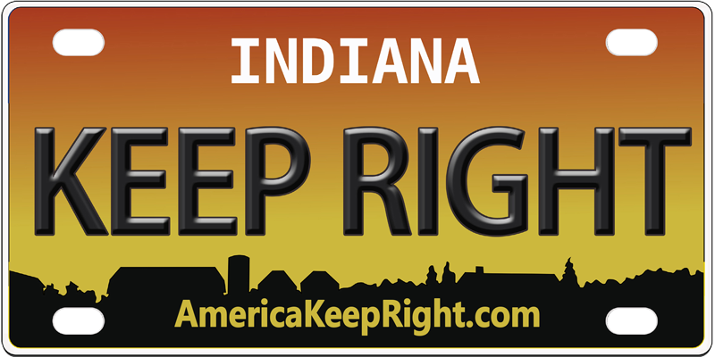 Indiana Keep Right Logo