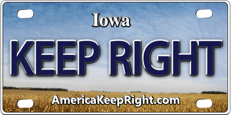 Iowa Keep Right Logo
