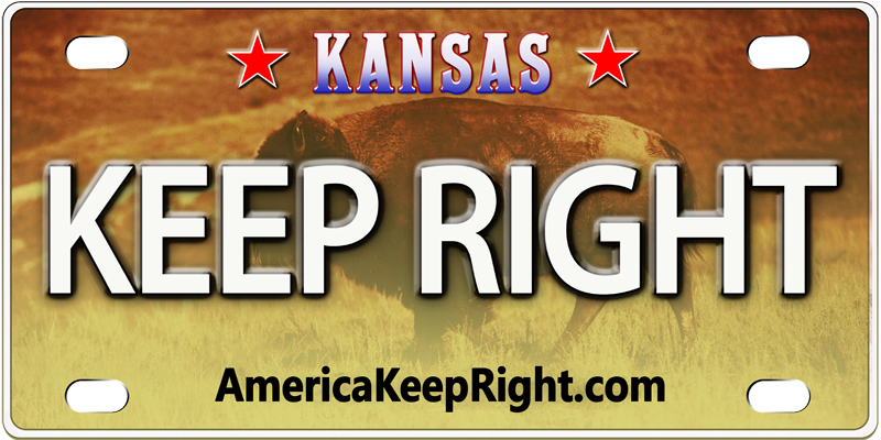 Kansas Keep Right Logo