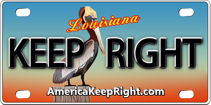 Louisiana Keep Right Logo