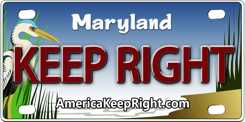 Maryland Keep Right Logo