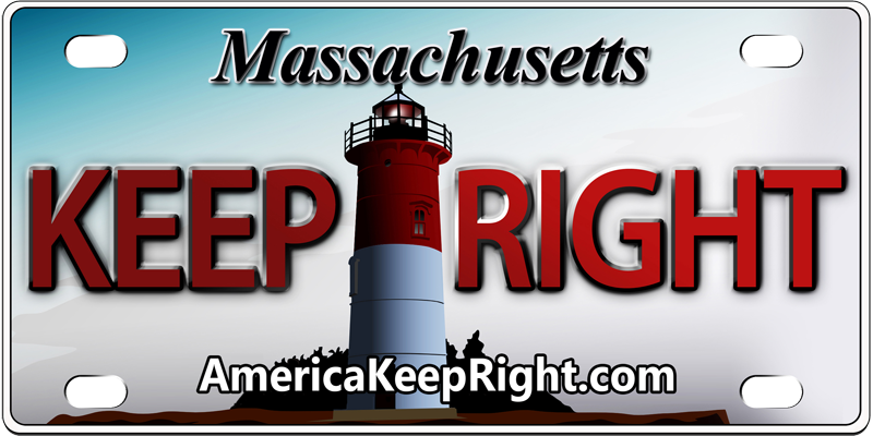 Massachusetts Keep Right Logo