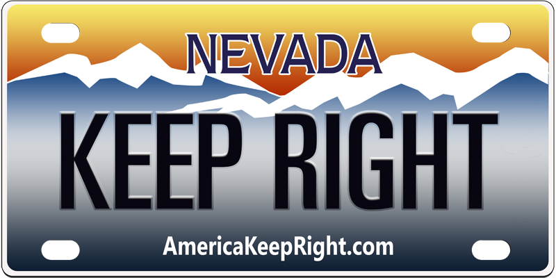 Nevada Keep Right Logo