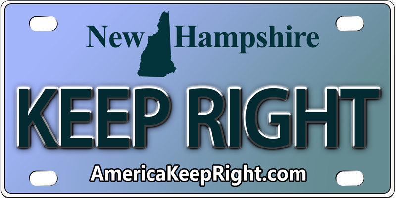 New Hampshire Keep Right Logo