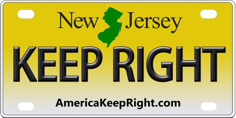 New Jersey Keep Right Logo