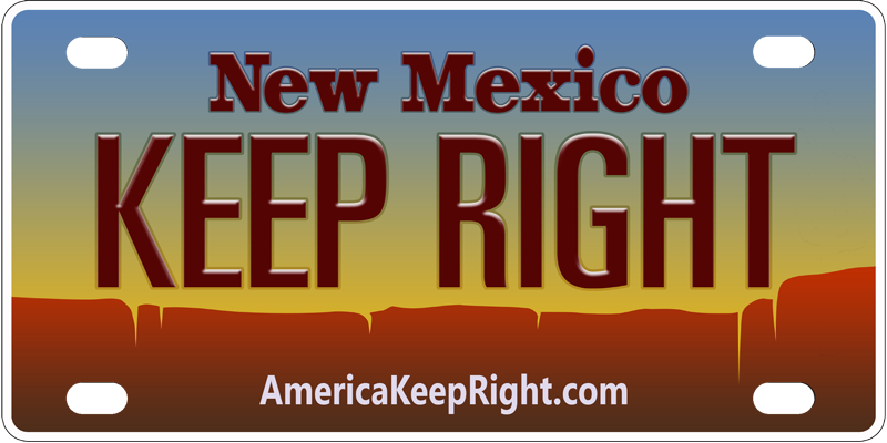 New Mexico Keep Right Logo