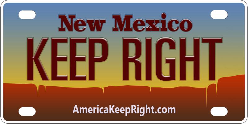 New Mexico Keep Right Logo