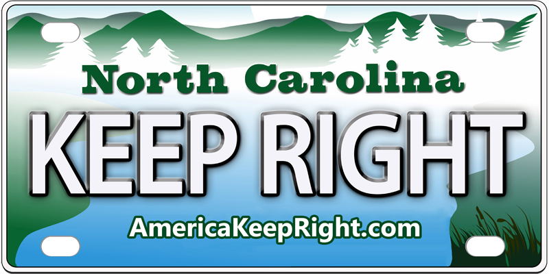 North Carolina Keep Right Logo