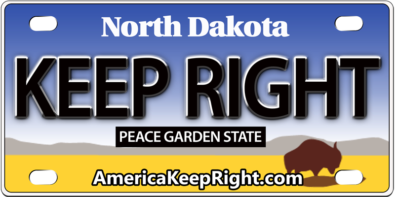 North Dakota Keep Right Logo