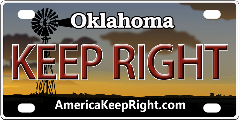 Oklahoma Keep Right Logo