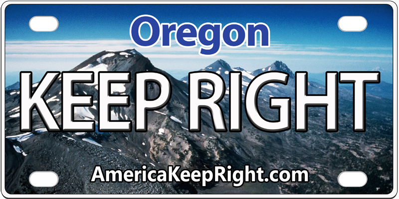 Oregon Keep Right Logo