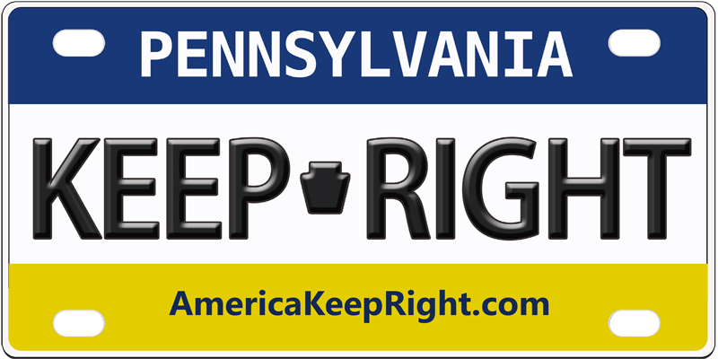 Pennsylvania Keep Right Logo