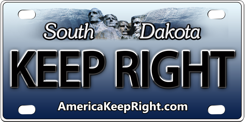 South Dakota Keep Right Logo