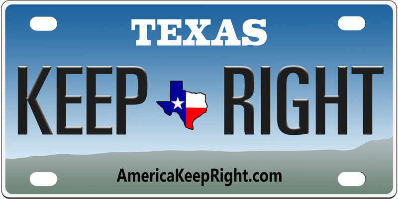 Texas Keep Right Logo