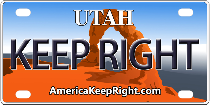 Utah Keep Right Logo