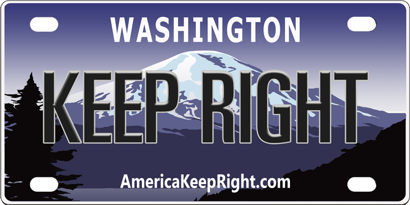 Washington Keep Right Logo