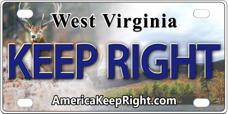 West Virginia Keep Right Logo