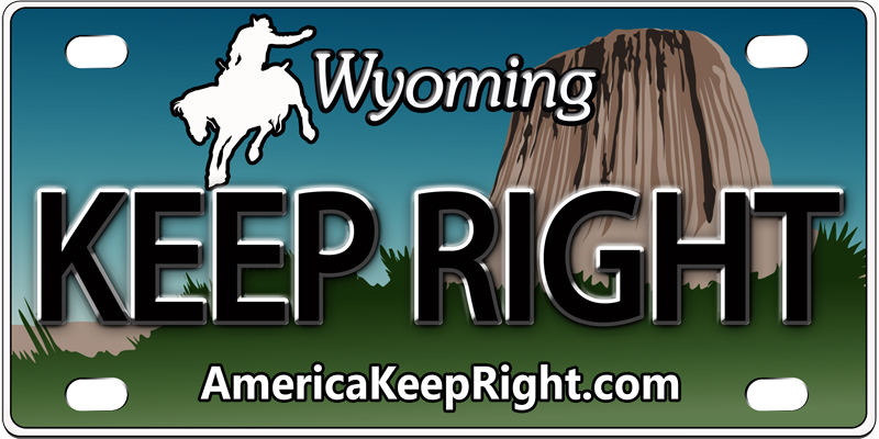 Wyoming Keep Right Logo